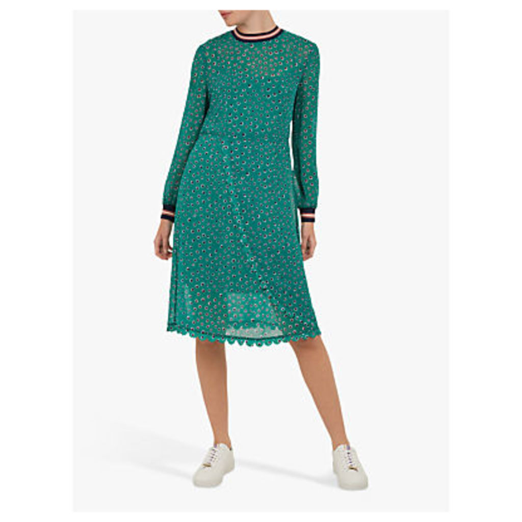 Ted Baker Colour By Numbers Sibella Floral Dot Wrap Dress, Green/Multi