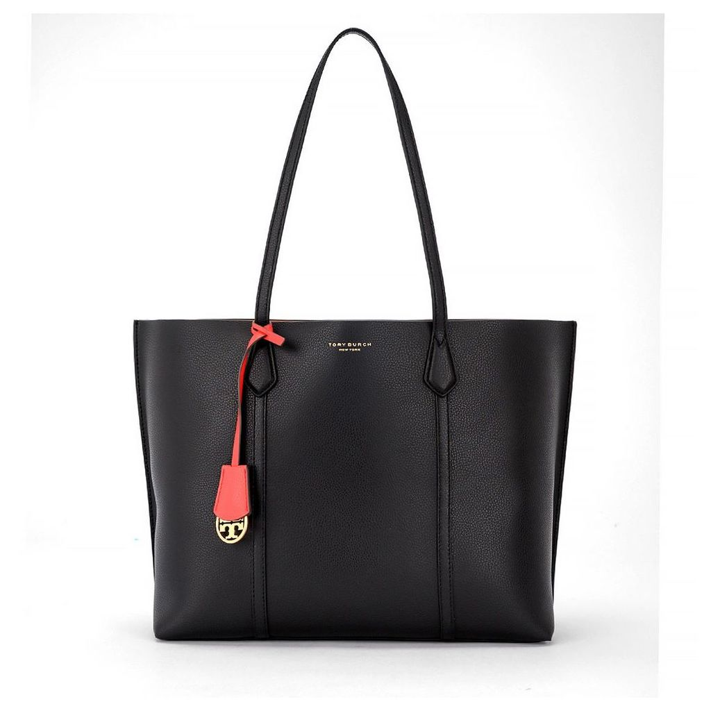 Tory Burch Perry Triple Black Tumbled Leather Shoulder Bag