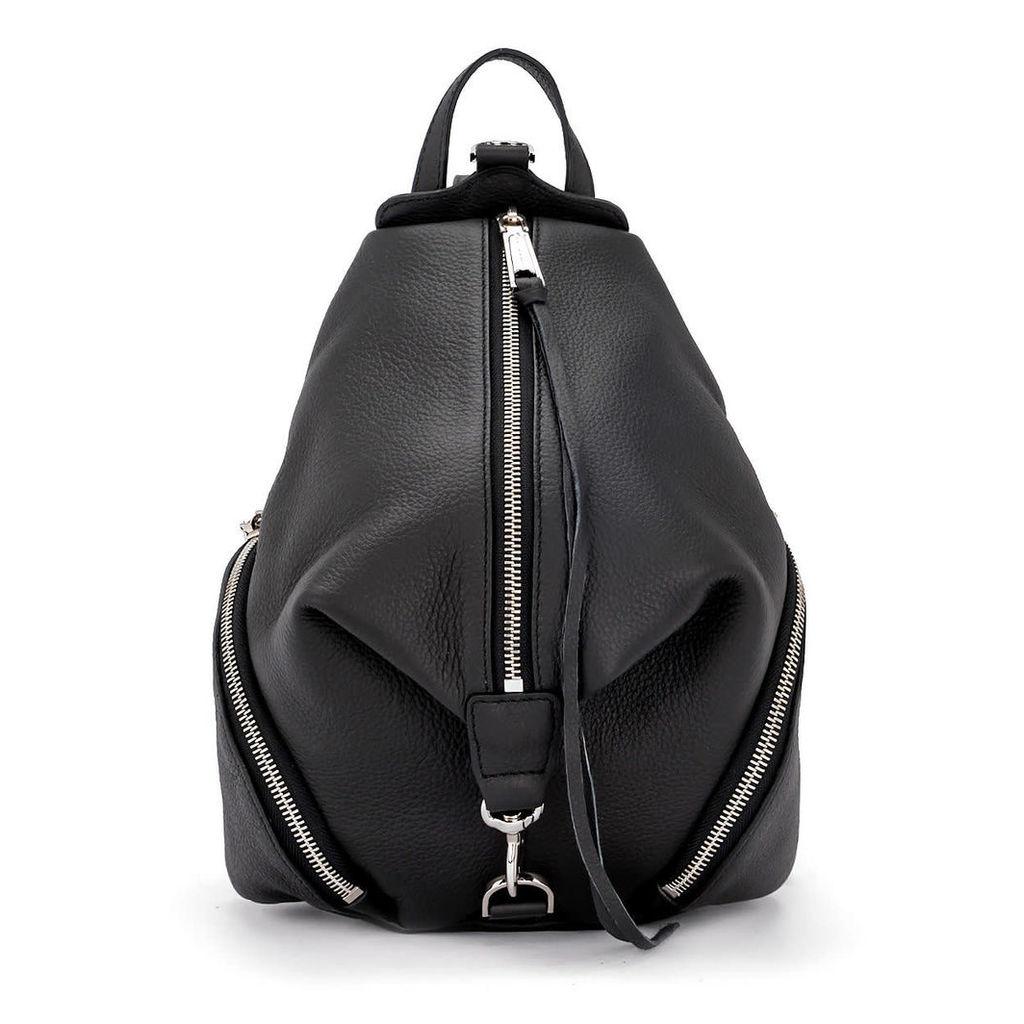 Rebecca Minkoff Julian Medium Black Leather Backpack