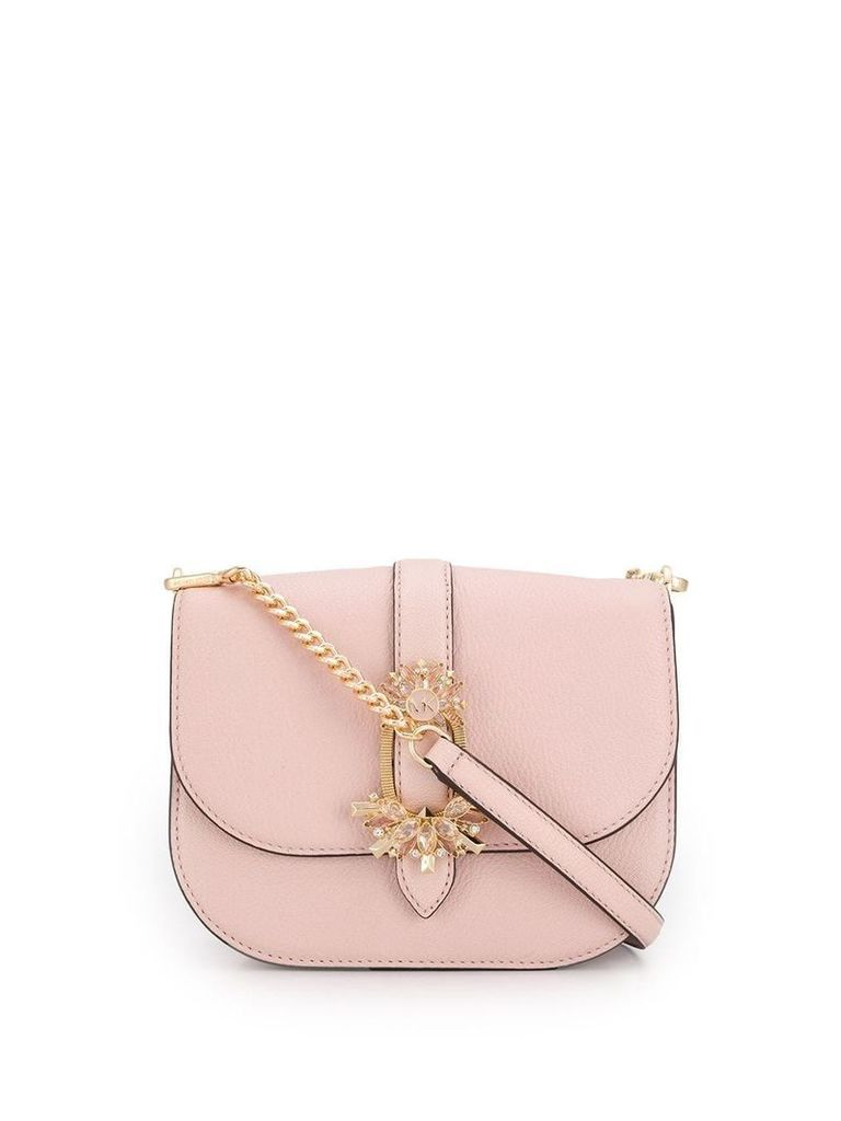 Michael Michael Kors crystal buckle crossbody bag - Pink