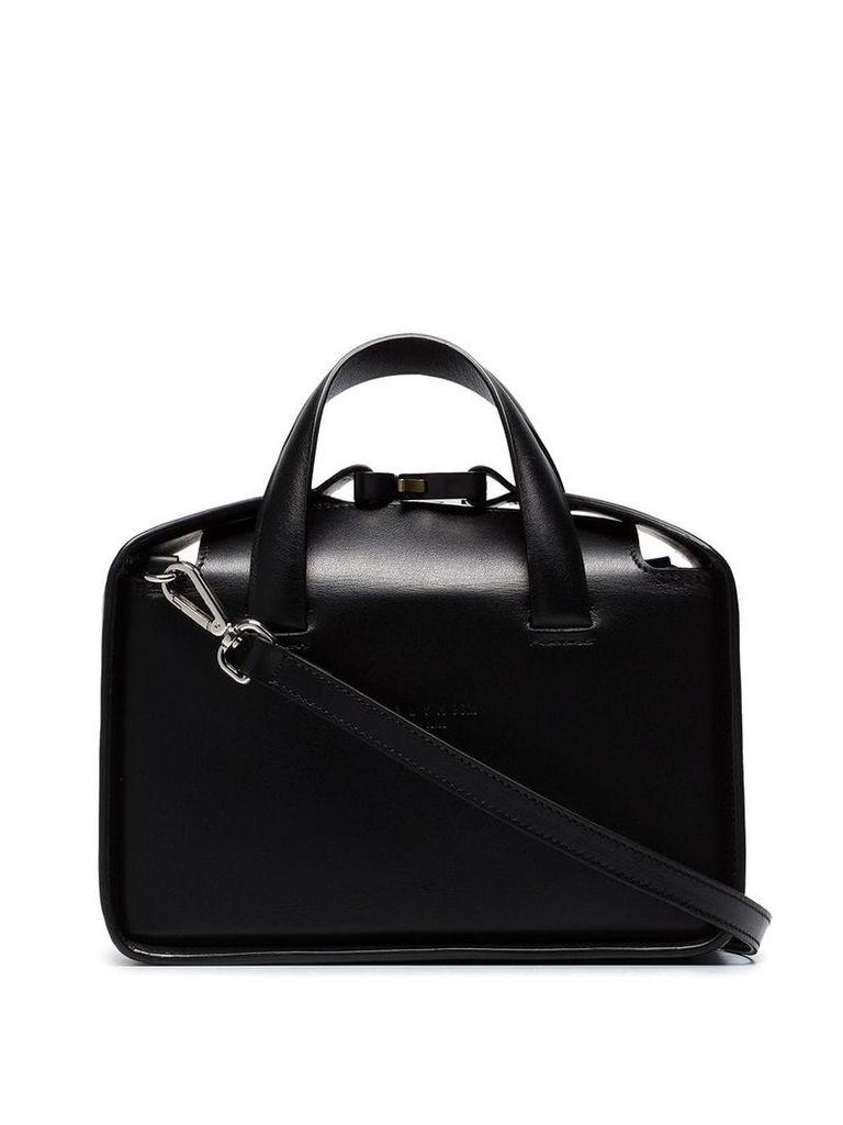 1017 ALYX 9SM black Brie dual strap leather shoulder bag