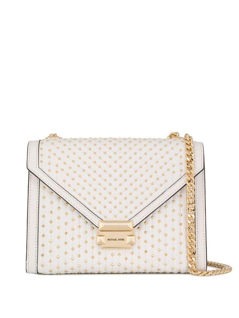 Michael Michael Kors Whitney studded tote bag - White