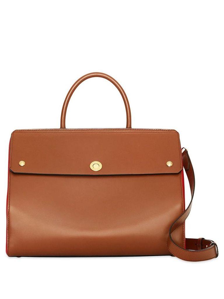 Burberry Medium Leather Elizabeth Bag - Brown