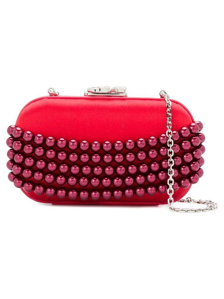 Corto Moltedo embellished Susan clutch bag - Red