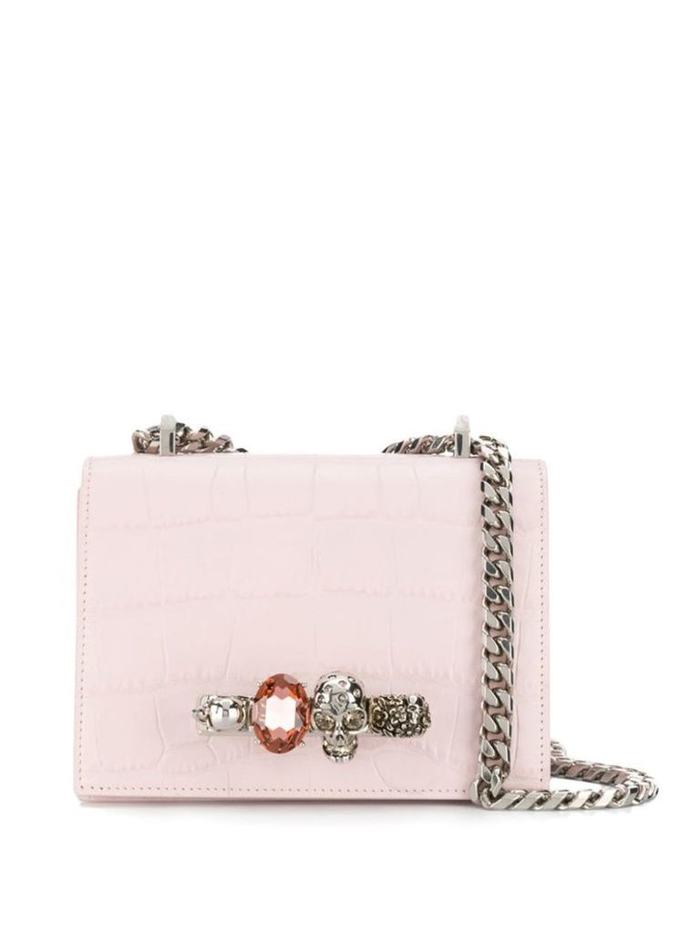 Alexander McQueen jewelled Knuckle Duster bag - Pink