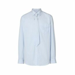 Burberry Striped Cotton Shirt And Tie Twinset