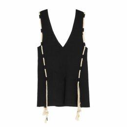 Altuzarra Amira Black Stretch-knit Top