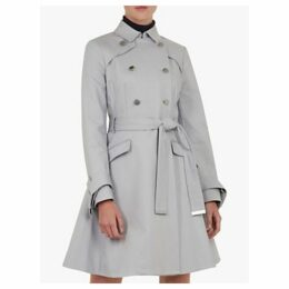Ted Baker Marrian Knot Cuff Detail Trench Coat, Grey Mid
