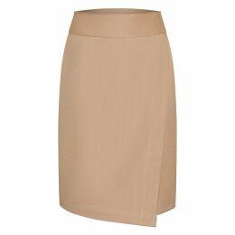 JULIANA HERC - Shoulderless Dry Green Fluid Short Dress