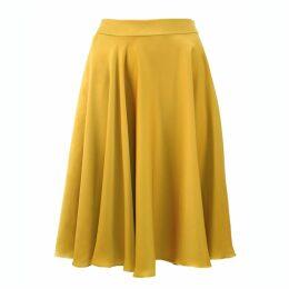 JULIANA HERC - Fluid Crepe Satin Flared A-Line Full Skirt