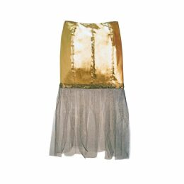 JULIANA HERC - Golden Skirt with Tulle