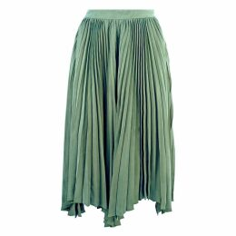 JULIANA HERC - Green Pleated Skirt