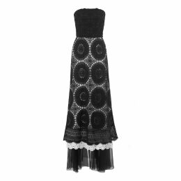 JULIANA HERC - Short Black & Golden Fluid Dress