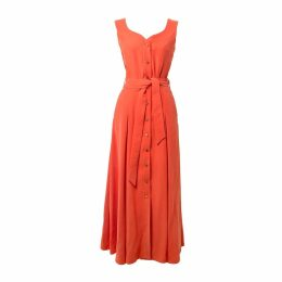 Tomcsanyi - Balastya Salmon Multi Slits Dress