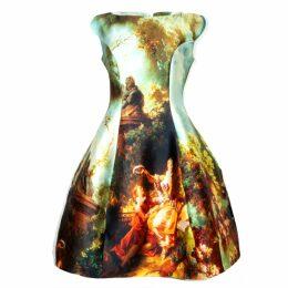 Tomcsanyi - Vecses Black & White Overlap Skirt Dress