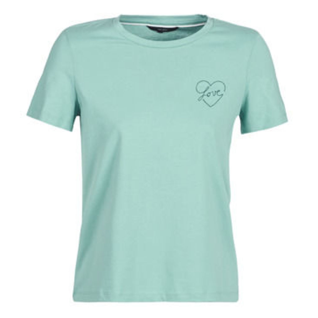 Vero Moda  VMLOVERS  women's T shirt in Green