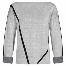 Mado Et Les Autres  Sweater graphic lines long sleeves  women's Sweatshirt in White