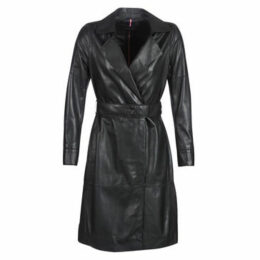Oakwood  HISTORY  women's Trench Coat in Black