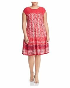 Nic+Zoe Plus Garden Party Fit-and-Flare Dress