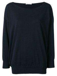 Stefano Mortari boat neck knitted jumper - Blue