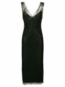 Lardini floral midi dress - Black