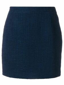 Alessandra Rich fitted mini skirt - Blue