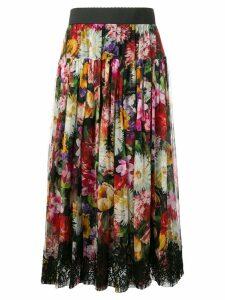 Dolce & Gabbana floral print skirt - Green