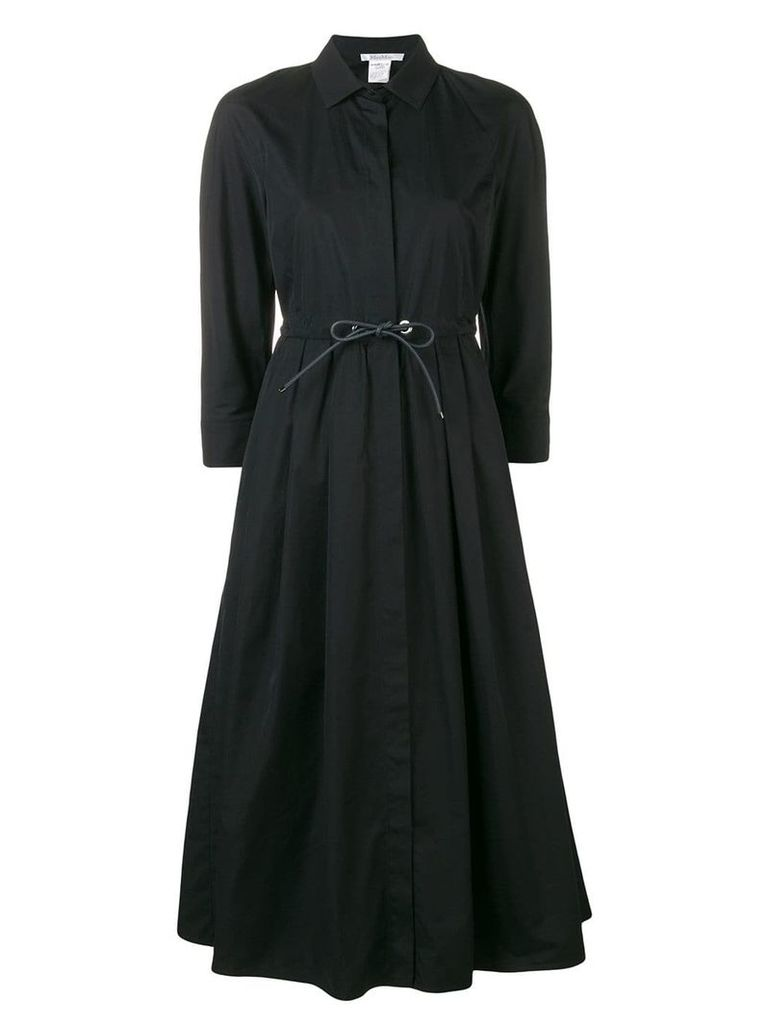Max Mara drawstring shirt dress - Black