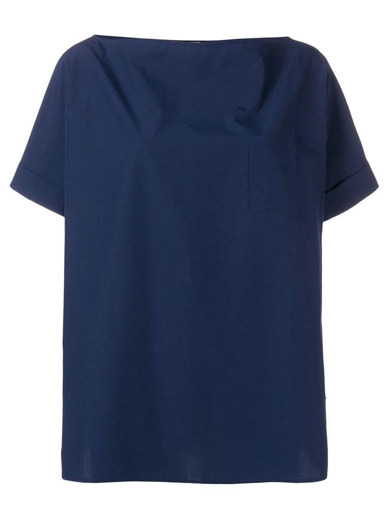 Apuntob boxy fit blouse - Blue