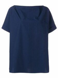 Apuntob boxy fit blouse - Blue