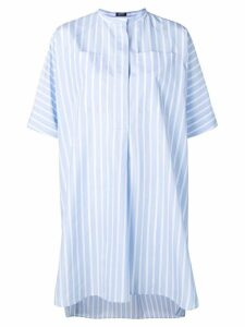 Jil Sander Navy striped collarless shirt dress - Blue