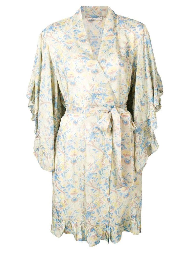 Mes Demoiselles frilled kimono - Neutrals