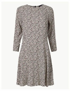 M&S Collection Animal Print Fit & Flare Mini Dress