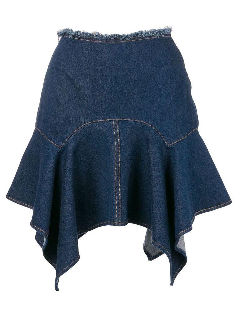Marques'Almeida asymmetric hem skirt - Blue