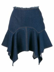 Marques'Almeida asymmetric hem skirt - Blue