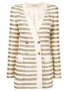Alessandra Rich striped double breasted blazer - Gold