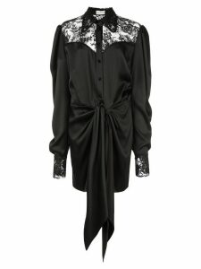 Magda Butrym floral lace shirt dress - Black