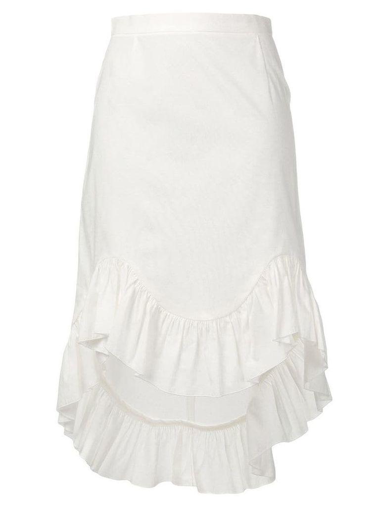 Blugirl ruffled hem skirt - White
