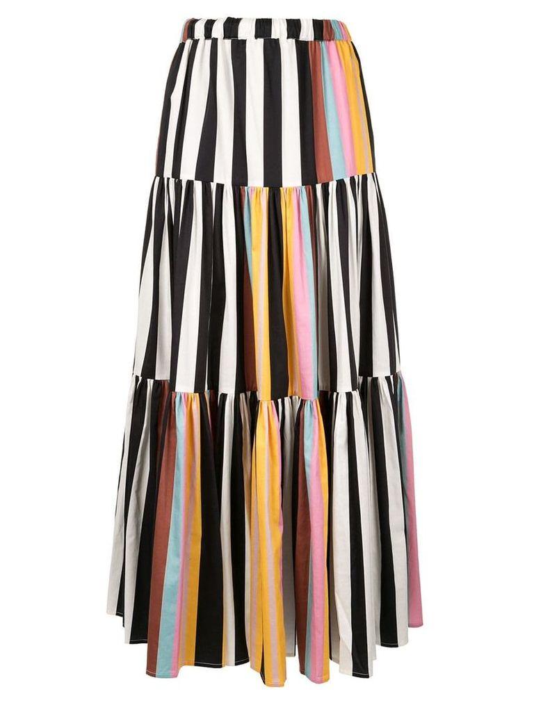 Tory Burch striped peasant skirt - Multicolour