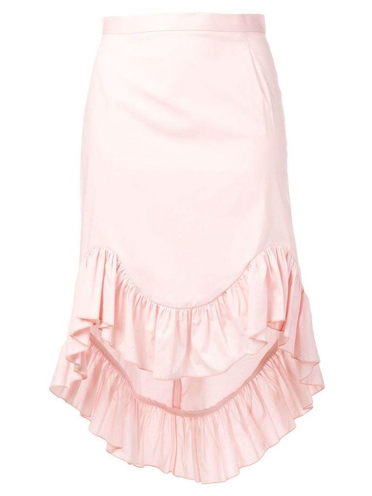 Blugirl ruffled asymmetric skirt - Pink