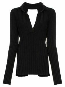 Khaite Sienna ribbed-knitted wool-blend top - Black