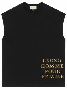 Gucci Oversize T-shirt with patch - Black