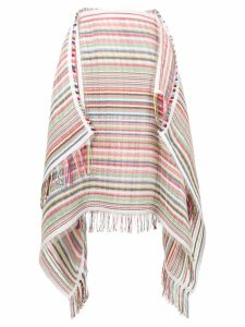 JW Anderson striped scarf skirt - White