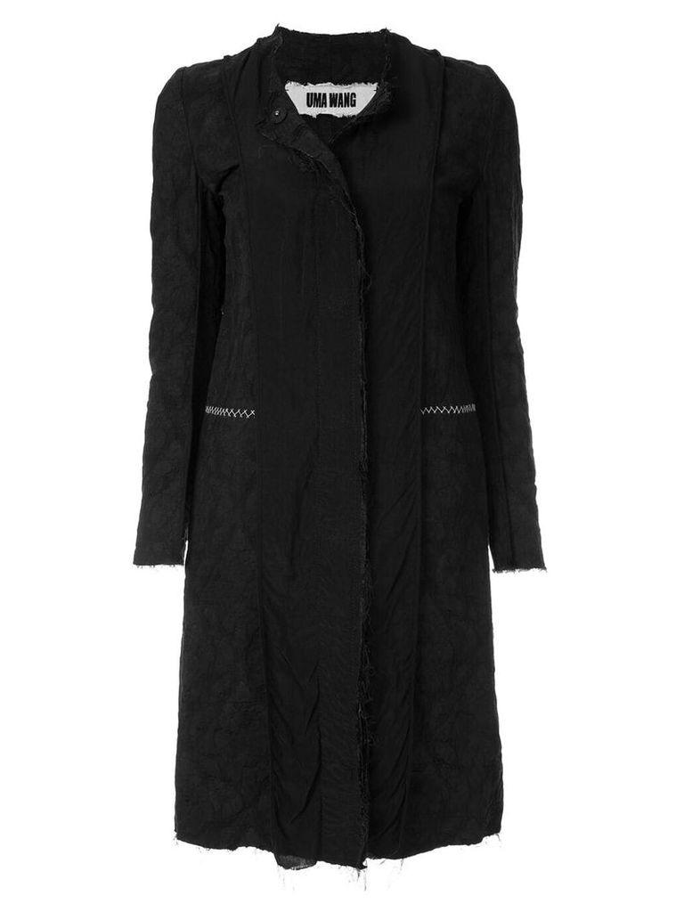 Uma Wang deconstructed midi coat - Black