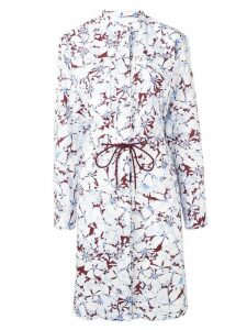 Cédric Charlier floral print shirt dress - White