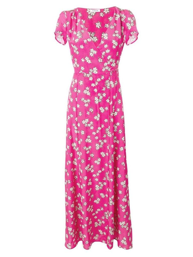 P.A.R.O.S.H. Sapored floral wrap dress - Pink
