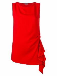 P.A.R.O.S.H. draped detail top - Red
