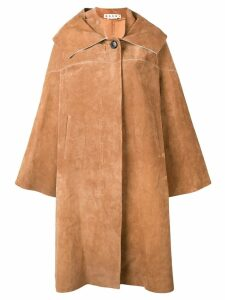 Marni oversized collar coat - Brown