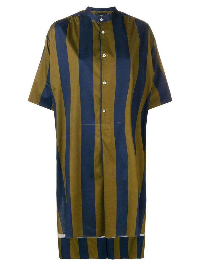 Fay striped shirt dress - Blue
