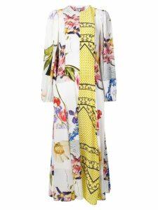 Ganni printed maxi dress - White